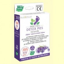 Parches Detox Pies Lavanda - 10 unidades - DLG Salus