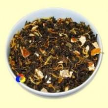 Té Negro Pu-Erh Exótico aromatizado Piña-Naranja - El Mundo del Té - 100 gramos