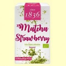 Té Verde en polvo Matcha Fresa Bio - 12 bolsitas - D&B