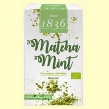 Té Verde en polvo Matcha Menta Bio - 12 bolsitas - D&B