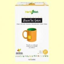 Infusión Herbodiet Alivia tus Gases - 20 bolsitas filtro - Novadiet