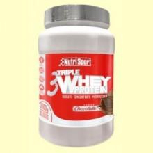 Triple Whey Protein - Nutrisport - 1 kg - Chocolate