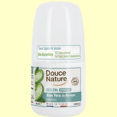 Desodorante Aloe Vera Roll On - 50 ml - Douce Nature