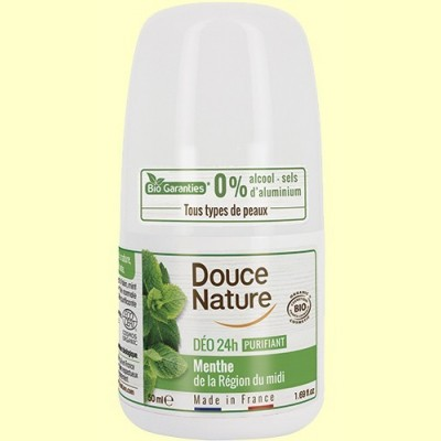 Desodorante Menta Roll On - 50 ml - Douce Nature