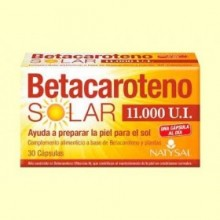 Betacaroteno Solar 11000 UI - 30 cápsulas - Natysal