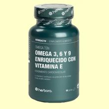 Omega TSN - Omega 3, 6 y 9 y Vitamina E - 60 perlas - Herbora