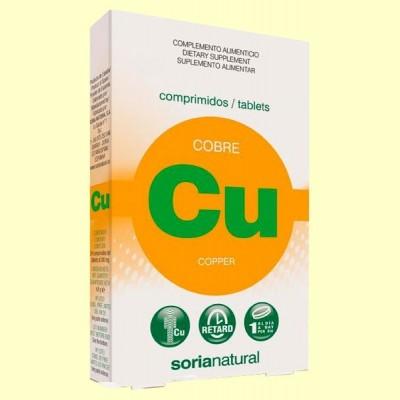 Cobre Retard - 24 comprimidos - Soria Natural