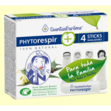 Phytorespir y 4 Sticks Inhaladores - 30 ml - Esential Aroms