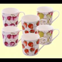 Tazas de Porcelana Fruit Mix - 6 unidades - Cha Cult