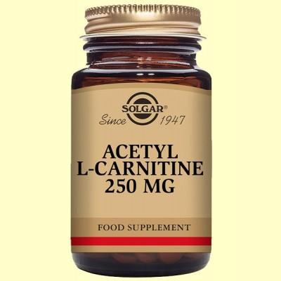 Acetil-L-Carnitina 250 mg - Aminoácidos - Solgar - 30 cápsulas