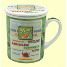 Taza Infusora Tisanera de Porcelana James - 250 ml - Cha Cult