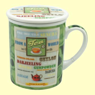 Taza Infusora Tisanera de Porcelana James - 250 ml - Cha Cult