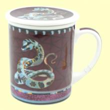 Taza Infusora Tisanera de Porcelana Jake - 250 ml - Cha Cult