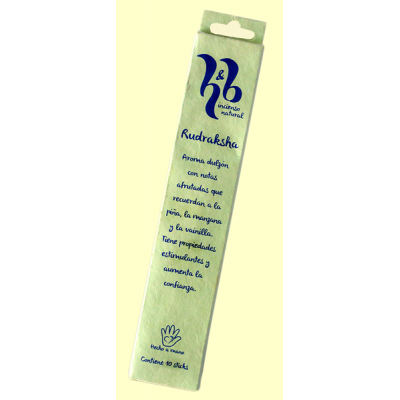 Rudraksha - Incienso Natural - 10 varillas - H&B