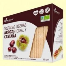 Tostadas Ligeras de Arroz y Castaña Bio - 95 gramos - Soria Natural