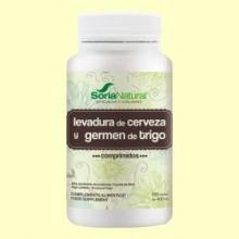 Germen de Trigo y Levadura de Cerveza - 500 comprimidos - Soria Natural