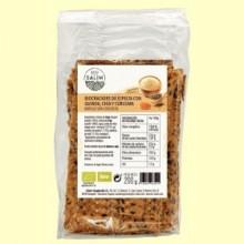 Cracker Espelta con Quinoa y Cúrcuma - Eco- 200 gramos -Salim