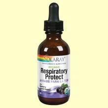 Jarabe para la Tos en gotas Organic Respiratory Protect - 59 ml - Solaray