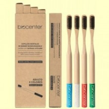 Pack de Cepillos de Dientes de Bambú - 4 unidades - Biocenter