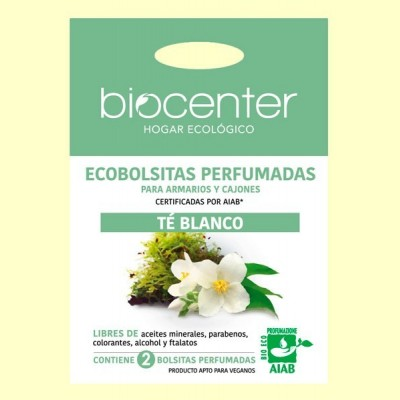 Bolsitas Perfumadas de Armario Bio - Té Blanco - 2 bolsitas - Biocenter