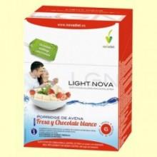 Light Nova Porridge de Fresa - Sobrepeso y Obesidad - 6 sobres - Novadiet