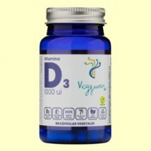 Vitamina D3 1000UI - 60 cápsulas - Veggunn