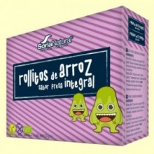 Rollitos Arroz Integral Fresa Bio - 4 packs - Soria Natural