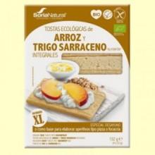 Tostadas Arroz y Trigo Sarraceno Bio - 132 gramos - Soria Natural
