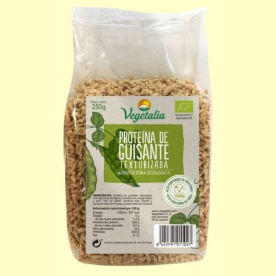 Proteína de Guisante Texturizada Bio - 250 gramos - Vegetalia