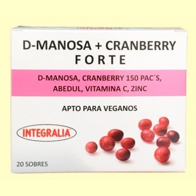 D Manosa Cranberry Forte - 20 sobres - Integralia