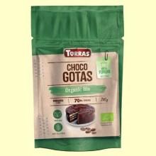 Choco Gotas 70% Cacao Bio - 200 gramos - Torras
