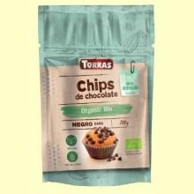 Chips de Chocolate 52% Cacao Bio - 200 gramos - Torras
