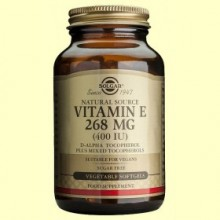 Vitamina E 268 mg - 50 cápsulas vegetales - Solgar