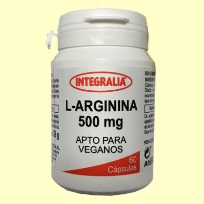L Arginina 500 mg - 60 cápsulas - Integralia