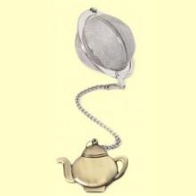Colador Bola de Té con figura Tetera de bronce - 5 centímetros - Cha Cult