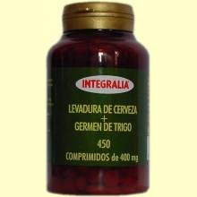 Levadura de Cerveza y Germen de Trigo - 450 comprimidos - Integralia