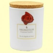 Vela Perfumada Flor de Algodón y Rosas - 1 unidad - Aromalia