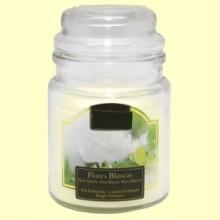 Vela Aromática de Flores Blancas en Jarrita de Cristal - 1 unidad - Aromalia