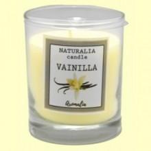 Vela Aromática de Vainilla en Vaso de Cristal - 1 unidad - Aromalia