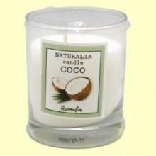 Vela Aromática de Coco en Vaso de Cristal - 1 unidad - Aromalia