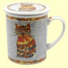 Taza Infusora Tisanera de Porcelana Ted - 250 ml - Cha Cult