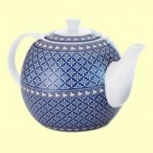 Tetera de Porcelana Azul Antonie - 1200 ml - Cha Cult