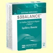 S3 balance - L-triptófano - FDB Laboratorios - 30 cápsulas