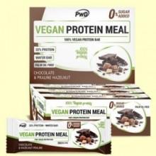 Vegan Protein Meal Chocolate Praliné - 12 barritas - PWD