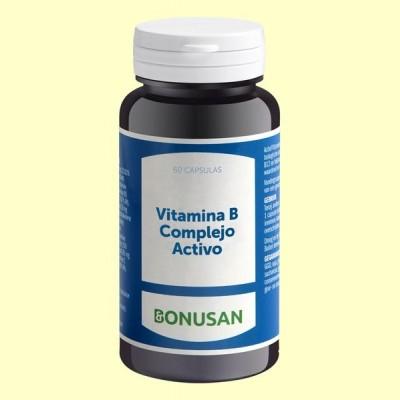 Vitamina B Complejo Activo - 60 cápsulas - Bonusan