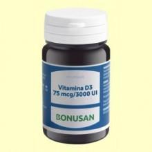 Vitamina D3 75mcg 3000 UI - 60 cápsulas - Bonusan