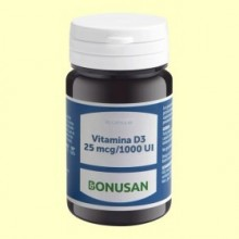 Vitamina D3 25mcg 1000 UI - 90 cápsulas - Bonusan