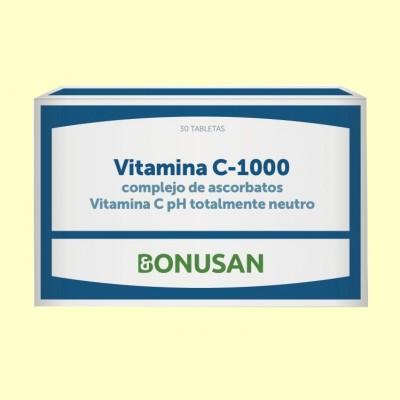 Vitamina C 1000 Complejo de Ascorbatos - 30 tabletas - Bonusan