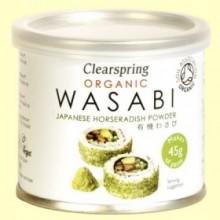 Wasabi Orgánico en lata - 25 gramos - Clearspring