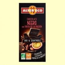 Chocolate Negro con Fruta de la Pasión Bio - 100 gramos - Alter Eco
